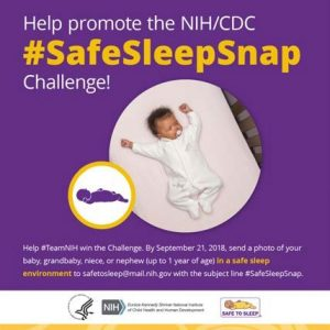 Help Promote the NIH/CDC #SafeSleepSnap Challenge!