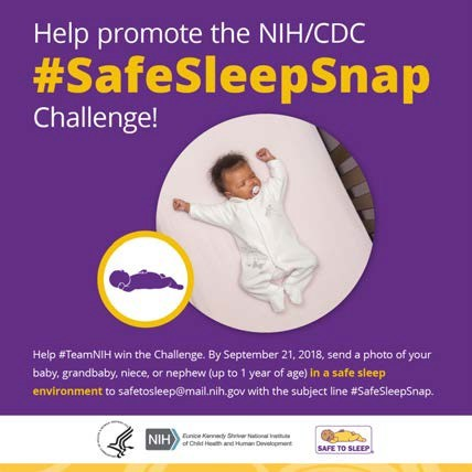 Help Promote the NIH/CDC #SafeSleepSnap Challenge!