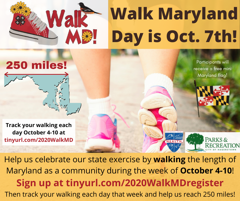 2020 Walk Maryland Day flyer