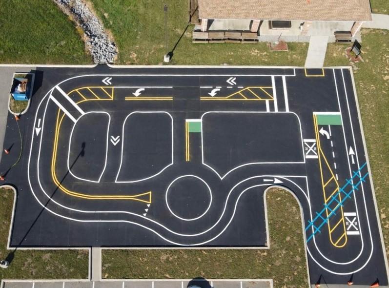 Bike Safe Play Court layout