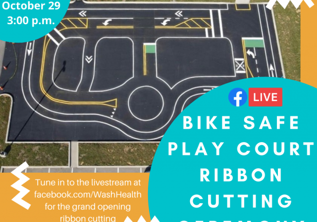 Bike Safe Play Court announcement