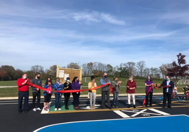 Bike Safe Play Court ribbon cutting
