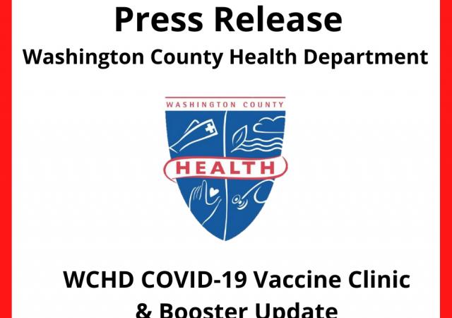 press release: WCHD COVID-19 vaccine clinic and booster update